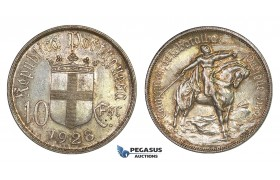 G87, Portugal, 10 Escudos 1928 (Batle of Ourique) Silver, Toned Top Grade!