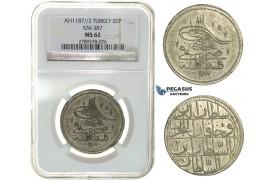 H17, Ottoman Empire, Turkey, Abdülhamid I, 20 Para AH1187/2, Qustantiniya, NGC MS62, Rare!