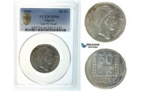 I32, Algeria, ESSAI 50 Francs 1949, PCGS SP64