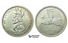 J09, Lithuania, 10 Litu 1936, Silver