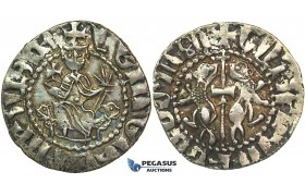 J30, Cilician Armenia, Royal, Levon I (1198-1219) AR Tram (2.89g) Great Patina & High Grade!
