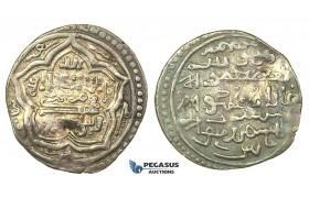 J32, Ilkhanids, Ghazan Mahmud, Dirham, Date XX7, Tabriz, Silver (2.14g)