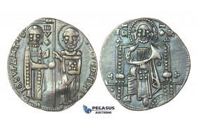 J37, Italy, Venice, Doge Giovanni Soranzo (1312-1328) Grosso ND, Silver (2.17g) Nice toning!