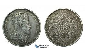 J62, Straits Settlements, Edward VII, Dollar 1904, Silver, Nice & Toned!
