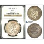 J86, France, Louis Philippe, 5 Francs 1847-A, Paris, Silver, NGC MS62