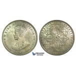 K12, Straits Settlements, George V, Dollar 1920, Bombay, Silver, High Grade!