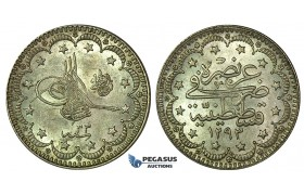 K16, Ottoman Empire, Turkey, Abdülhamid II, 5 Kurush AH1293/33, Silver, High Grade!