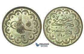 K17, Ottoman Empire, Turkey, Abdülhamid II, 10 Kurush AH1293/33, Silver, High Grade!