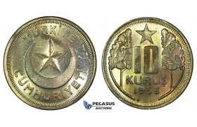 K18, Turkey, 10 Kurush 1938, Brilliant UNC