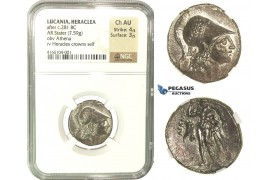 K23, Italy, Lucania, Herakleia, AR Stater / Nomos c. 281-278 BC, NGC Ch AU, Very Rare!