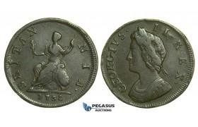 K34, Great Britain, George II, Farthing 1732, VF