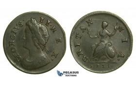 K35, Great Britain, George II, Farthing 1735, VF