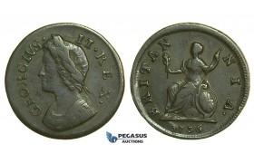 K36, Great Britain, George II, Farthing 1736, VF