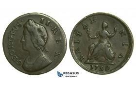 K38, Great Britain, George II, Farthing 1739, VF