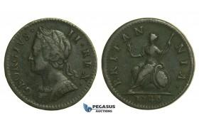 K40, Great Britain, George II, Farthing 1746, VF