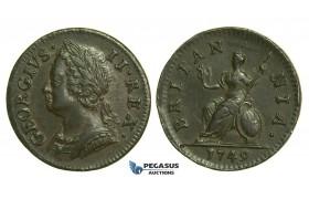 K41, Great Britain, George II, Farthing 1749, EF