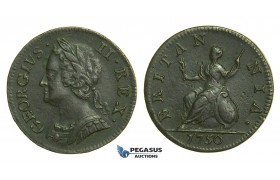 K42, Great Britain, George II, Farthing 1750, GVF