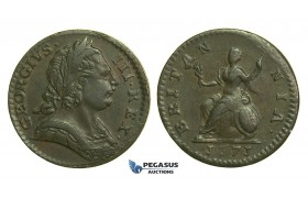 K44, Great Britain, George III, Farthing 1771, AEF