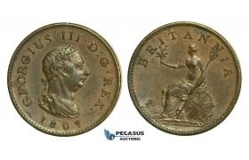 K49, Great Britain, George III, Farthing 1807, EF Brown