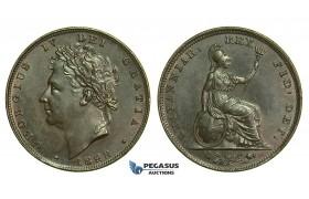 K52, Great Britain, George IV, Farthing 1828, GEF