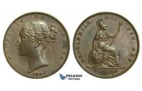K57, Great Britain, Victoria, Farthing 1841, EF-UNC
