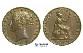 K62, Great Britain, Victoria, Farthing 1854, GVF (Few verdegris spots)