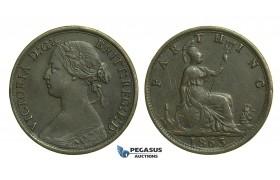 K66, Great Britain, Victoria, Farthing 1863, VF
