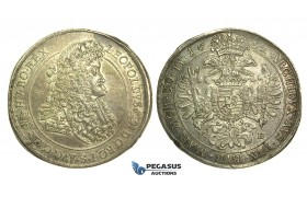 L05, Hungary, Leopold I, Taler 1692-KB, Kremnitz, Silver (28.42g) Superb coin!