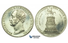 L18, Russia, Alexander II, Monumental Rouble 1859, St. Petersburg, Silver, Cleaned/Polished High Grade