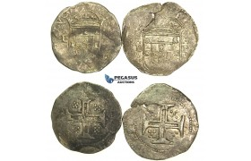 L37, Portugal, Philip II, 1598-1621, 2 x Tostao (100 Reis) No Date, Lisbon, Silver