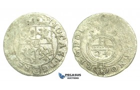 """L41, Poland, Johann Kazimir, Poltorak 1659, Poznan (Posen) Silver (0.95g) Very Rare! """"MONET"""""""