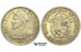 L53, Panama, 10 Centesimos 1904, Silver, High Grade!
