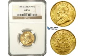 L60, South Africa (ZAR) Pond 1898, Gold, NGC AU58