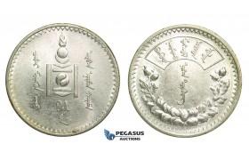 L76, Mongolia, Tugrik AH15 (1925) Silver, aUNC