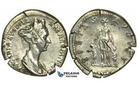 L90, Roman Empire, Matidia. Augusta (112-119 AD) AR Denarius (2.92g) Struck under Trajan, 112-117 AD, Rome, Very Rare!