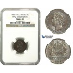M37, France, Louis Philippe I, ESSAI 2 Centimes 1842, NGC MS64BN