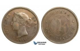 M90, Cyprus, Victoria, 1 Piastre 1879, Nice!
