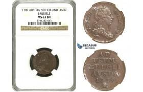 N11, Austria Netherlands, Joseph II, Liard 1789, Brussels, NGC MS63BN