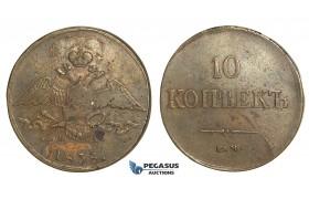 N36, Russia, Nicholas I, 10 Kopeks 1838 EM/HA, Ekaterinburg