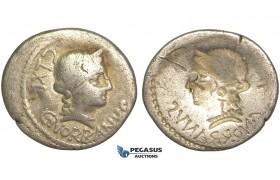 O51, Roman Republic, C. Norbanus (83 BC) AR Denarius (3.58g) Rome (Incuse strike)