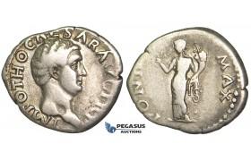 O63, Roman Empire, Otho (69 AD) AR Denarius (3.28g) Rome, CERES, Rare!