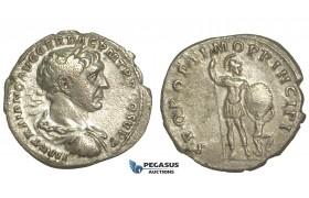 O68, Roman Empire, Trajan (98-117 AD) AR Denarius (2.83g) Struck 106-107 AD, Rome, Dacian