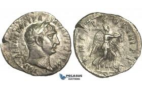 O69, Roman Empire, Trajan (98-117 AD) AR Denarius (2.77g) Struck 101/2 AD, Rome, Victory