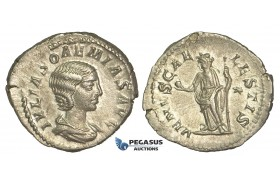 O80, Roman Empire, Julia Soaemias (Augusta, 218-222 AD) AR Denarius (3.15g) Rome, Venus