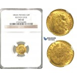 O81, France, Napoleon III, 5 Francs 1854-A (Reeded edge) Paris, Gold, NGC MS62