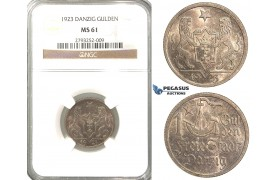 P78, Poland, Danzig, Gulden 1923, Silver, NGC MS61