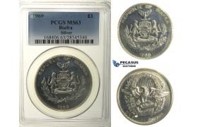 R105, Biafra, Pound 1969, Silver, PCGS MS63