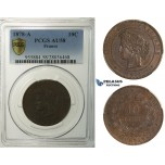 R140, France, 3rd Republic, 10 Centimes 1878-A, Paris, PCGS AU58
