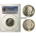 R170, Sweden, Gustaf V, 1 Krona 1935-G, Stockholm, Silver, PCGS MS66 (Mirror fields)