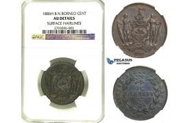 R347, British North Borneo, Cent 1886-H, Heaton, NGC AU